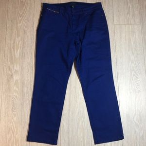 Ralph Lauren Blue Jeans Straight Ankle Size 14